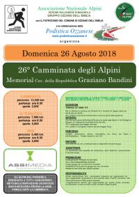 26° Camminata degli Alpini - Memorial Cav. della Repubblica Graziano Bandini
